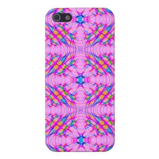 パステル調ピンクの万華鏡のように千変万化するパターンパターン抽象芸術 iPhone 5 CASE