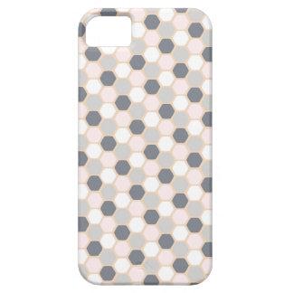 パステル調ピンクの幾何学的な六角形のiPhone 5/5Sの場合 iPhone SE/5/5s ケース
