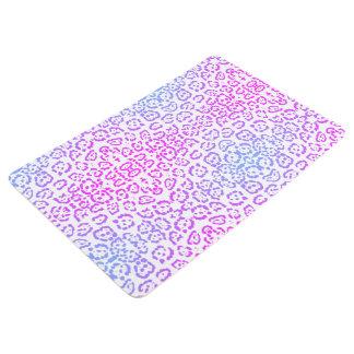 パステル調ピンクの紫色のベンガルヤマネコのアニマルプリント フロアマット