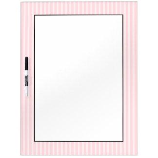 パステル調ピンクの縞 ホワイトボード