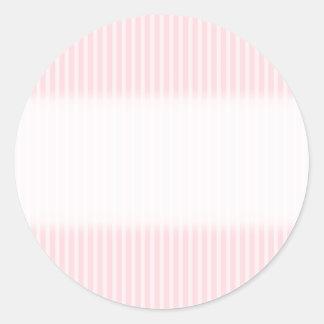 パステル調ピンクの縞 ラウンドシール
