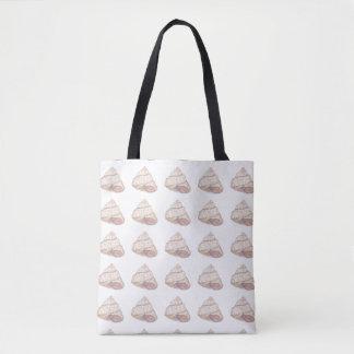 パステル調ピンクの貝の螺線形 トートバッグ