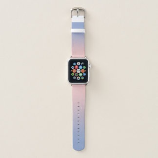 パステル調ピンクの青くグラデーションなAppleの時計バンド Apple Watchバンド