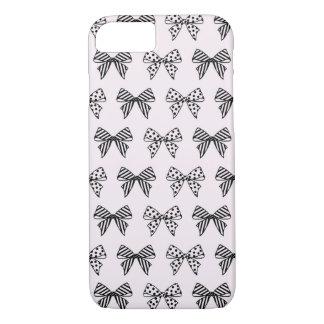 パステル調ピンクのiPhone 7の場合のシックな弓パターン iPhone 8/7ケース