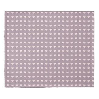 パステル調ピンク紫色愛ハートの水玉模様パターン 掛け布団カバー