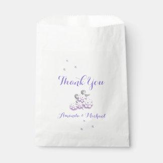 パステル調愛鳥の結婚式の引き出物のバッグ フェイバーバッグ