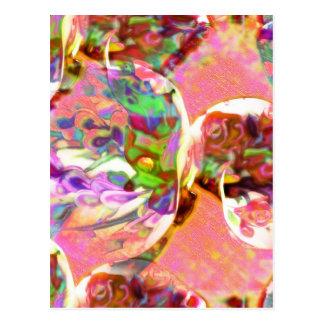 パステル、ユリ、虹、愛、ロマンス、花束、芽、f ポストカード