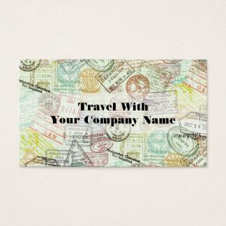 パスポートのスタンプ旅行プリントの名刺 名刺