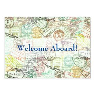 パスポートのスタンプ旅行招待状はカード感謝していしています カード