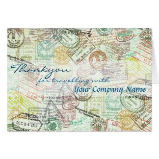 パスポートのスタンプ旅行挨拶はカード感謝していしています カード