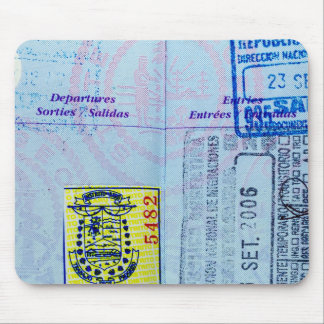 パスポートはクローズアップを押します マウスパッド