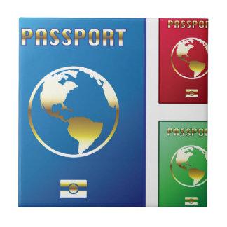 パスポートは紫系統の緑を方向を変えます タイル