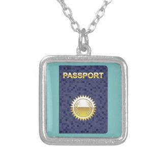 パスポートアイコン シルバープレートネックレス
