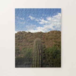 パズルのアリゾナの砂漠のサグアロの眺め ジグソーパズル