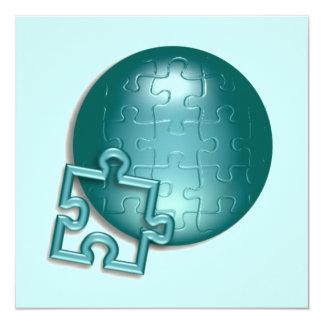 パズルの世界の招待状 カード