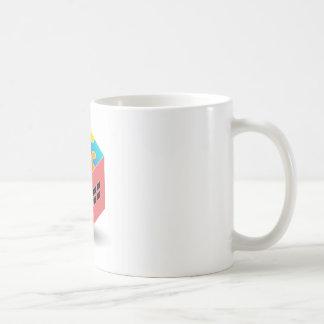 パズルの屋根が付いている家 コーヒーマグカップ