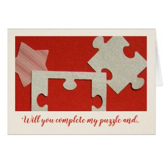 パズルの恋人のバレンタインの挨拶状- jjhelene カード