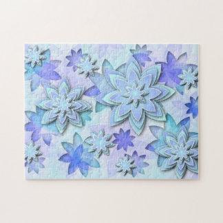 パズルの曼荼羅の抽象芸術のはすの花 ジグソーパズル