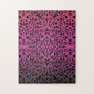 パズルの花柄の抽象芸術の背景 ジグソーパズル