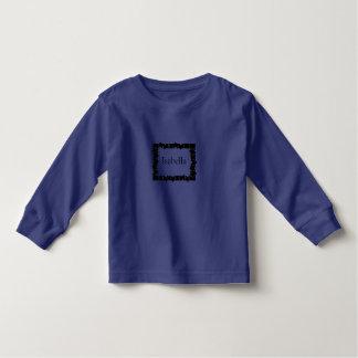 パズルフレームの子供の名前のTシャツをカスタマイズ トドラーTシャツ