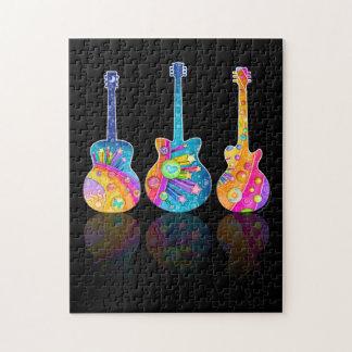 パズル-ギターの反射 ジグソーパズル