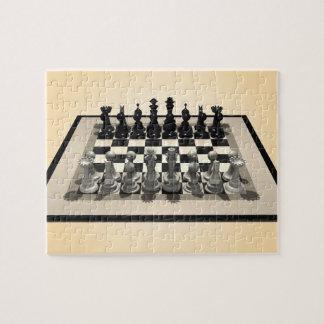 パズル: チェス盤および駒 ジグソーパズル