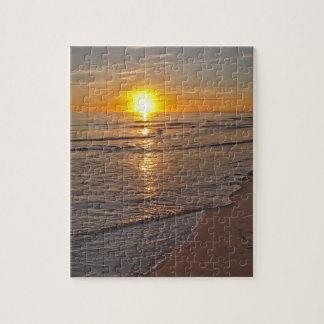 パズル: ビーチによる日没 ジグソーパズル