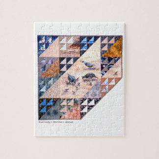 パズル-芸術のキルトのウズラの一群 ジグソーパズル