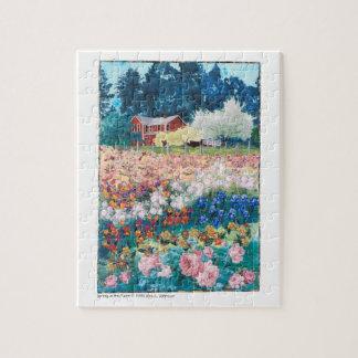 パズル-農場の芸術のキルトの春 ジグソーパズル