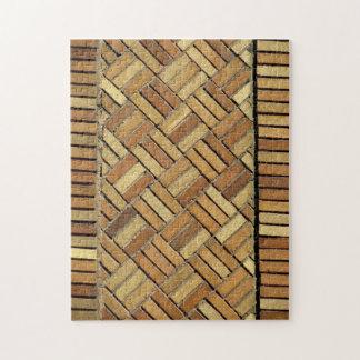 パズル- Basketweaveの煉瓦パターン ジグソーパズル