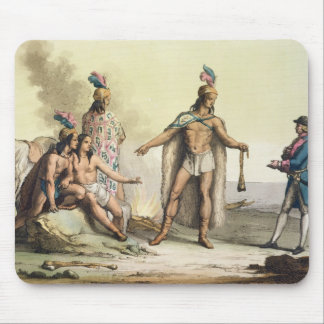 パタゴニアのインディアン、ヨーロッパtに挨拶するチリ マウスパッド