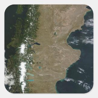 パタゴニアの地域の衛星概観 スクエアシール