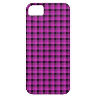 パターンを点検して下さい。 明るいピンクおよび黒い iPhone 5 Case-Mate ケース