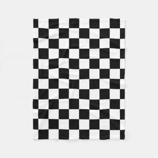 パターンを競争させるチェック模様の旗 フリースブランケット