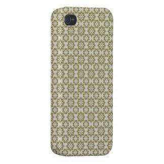 パターンを繰り返すスタイリッシュなオリーブ色の(紋章の)フラ・ダ・リ iPhone 4/4Sケース