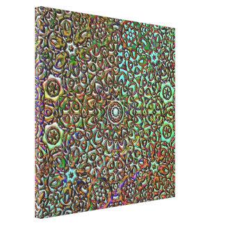 パターンコラージュの抽象美術 キャンバスプリント