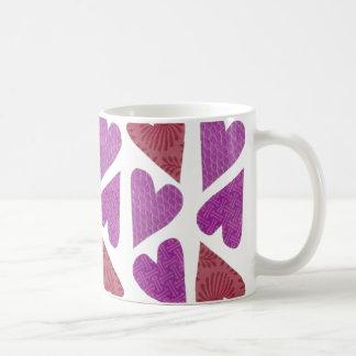 パターンハートのマグ コーヒーマグカップ