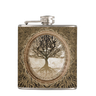 パターンブラウンの生命の樹 フラスク