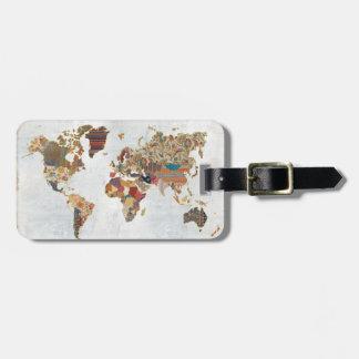 パターン世界地図 ラゲッジタグ