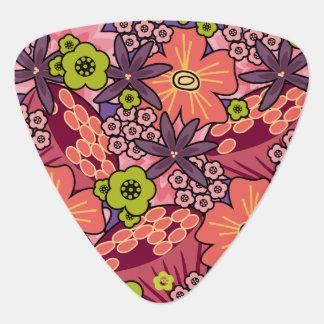 パターン名前をカスタムするのBohoのガーリーではっきりしたな花ヒッピー ギターピック