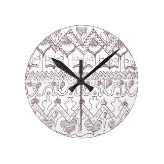 パターン時計 ラウンド壁時計