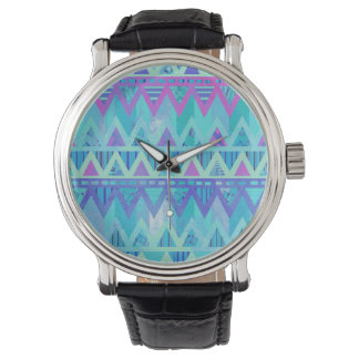 パターン種族のアステカなシェブロンの軽いペイズリーの腕時計 腕時計