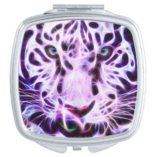 パターン紫色のトラの白熱鏡