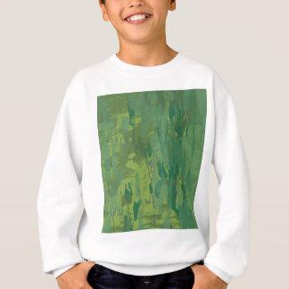 パターン緑のジャングルのカムフラージュ スウェットシャツ
