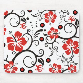 パターン芸術-ハイビスカスの装飾 マウスパッド