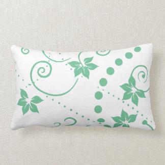 パターン葉の緑の花の~の編集可能背景 ランバークッション