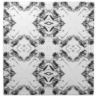 パターン106黒 ナプキンクロス