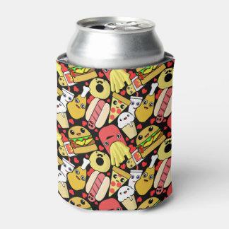 パターン(の模様が)あるなかわいいの食糧キャラクター 缶クーラー