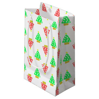 パターン(の模様が)あるなクリスマスツリー スモールペーパーバッグ
