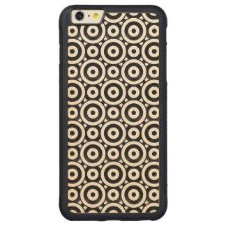 パターン(の模様が)あるなディスク CarvedメープルiPhone 6 PLUSバンパーケース